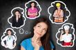 Leinwanddruck Bild - Career choice options - student thinking of future