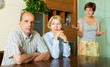 Mature parents with   daughter having conflict