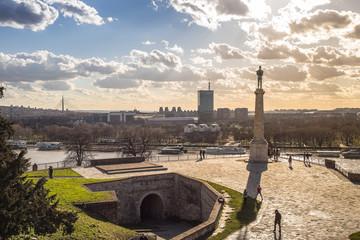 Statue of Victory - Kalemegdan fortress in Belgrade