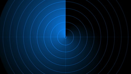 abstract loop motion background, blue radar