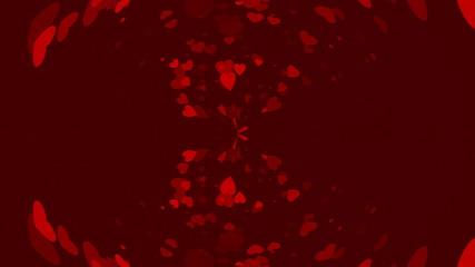 red abstract loop motion background, heart
