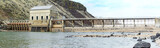 Historic dam on a river in Idaho