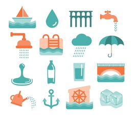 vector water icons
