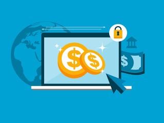 vector secure online payment concept illustration
