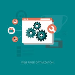 vector modern web page optimization concept illustration