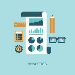 modern vector analytics concept illustration