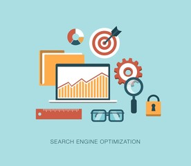 modern vector search engine optimization concept illustration