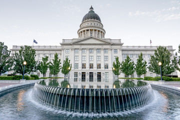 Unique view of the Utah capital building