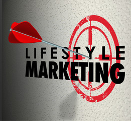 Lifestyle Marketing Words Arrow Hitting Target Personal Interest