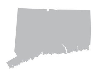 grey map of Connecticut