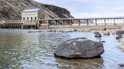 Low water at one of Idaho's dams on the Boise River