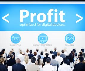 Business People Profit Web Design Concept