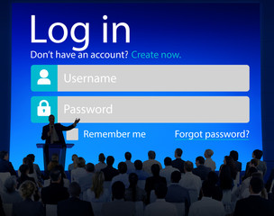 Business People LogIn Security Protection Seminar Concept