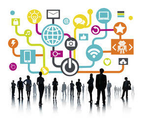 Global Communications Social Networking Business People Concept