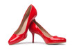 Red woman shoes isolated on the white background - 79203954