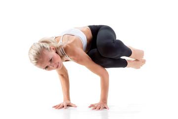 Sport Series: yoga. Sideways Crow Posture