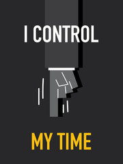Words I CONTROL MY TIME