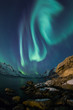 Постер, плакат: Incredible Aurora Borealis over night sky in Arctic