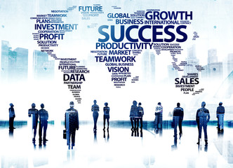 Business People Success Aspiration Corporate Goals Group Concept