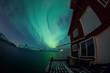 Aurora Borealis reflected on a lake
