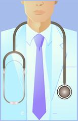 Closeup of a doctor vector