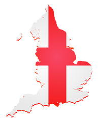 England map with flag design