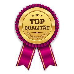 Goldener Top Qualität Siegel Mit Lila Scherpe