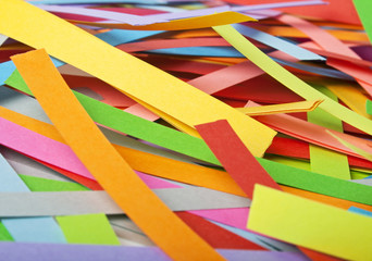 Paper strips in rainbow colors, can use as background