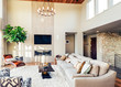 Beautiful living room in new luxury home