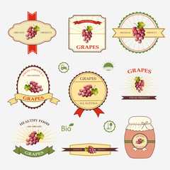 Grapes, a set of label design