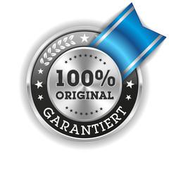 Silber 100 Prozent Original Siegel Mit Blauer Scherpe
