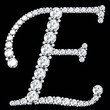diamond letters with gemstones - 79208165