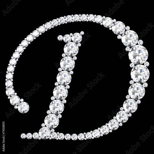 diamond letters with gemstones