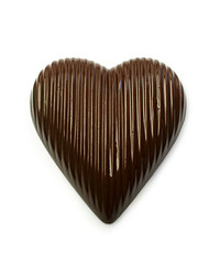 Chocolate candy in a heart shape
