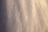 Vintage tulle chiffon texture background, wedding concept
