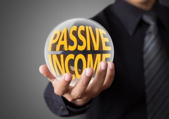 Businessman with passive income concept