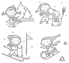 Kids winter outdoors activities