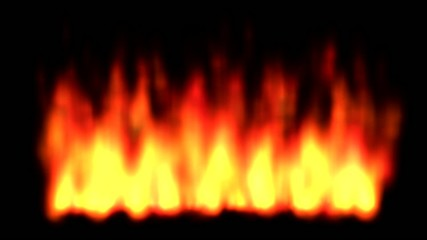 Flames animation background. Alpha chanel included.