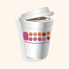 takeaway coffee theme elements vector,eps