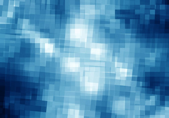Abstract blue geometric  background,  mosaic banner.