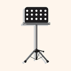 Music stand theme elements vector,eps