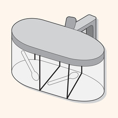 kitchenware pepper case theme elements vector,eps