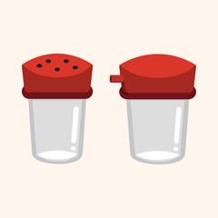 kitchenware pepper bottle theme elements vector,eps