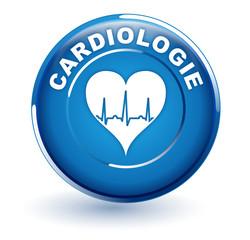 cardiologie sur bouton bleu