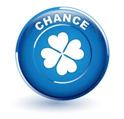 chance sur bouton bleu