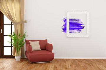 Moderne Kunst im Rahmen