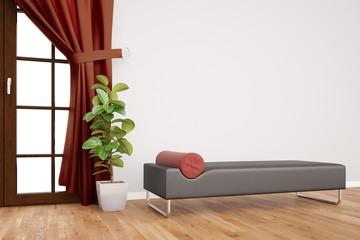 Couch in Praxis für Psychotherapie