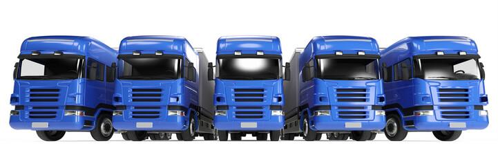 LKW-Flotte bei Autovermietung oder Spedition