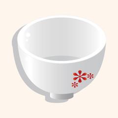 kitchenware bowl theme elements vector,eps