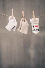 clothesline with baby socks
